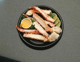 Aliments à manger Avec King Crab