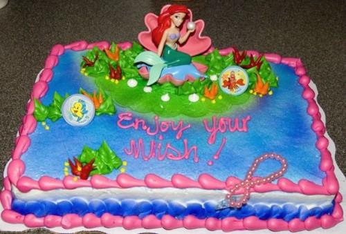 Conseils Petite Sirène gâteau d'anniversaire Décoration