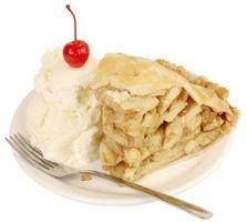 Idées pour l'alimentation tarte aux pommes et crème glacée