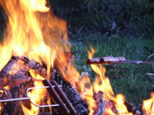 Comment faire rôtir Hot Dogs sur un feu de camp