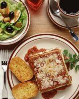 Les aliments qui vont avec Lasagne