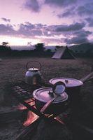Comment faire cuire Steak sur Campfire Charbons